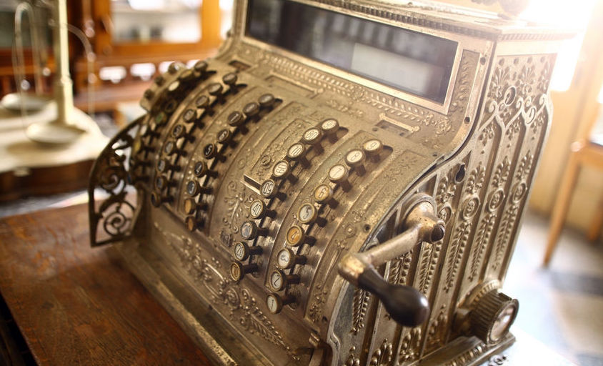 Antique cash register or point of sale system.
