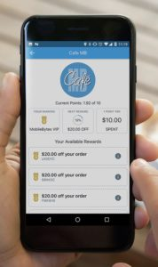 MobileBytes Loyalty feature on the MobileBytes POS for restaurants Guest App.